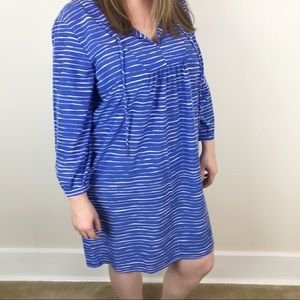 Gap Stella Blue Striped Dress with Pockets Large